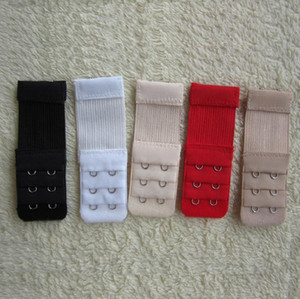 Ladies elastic 2 Hooks Bra Strap Extender clip perfect ADJUSTABLE BELT buckle white black red etc