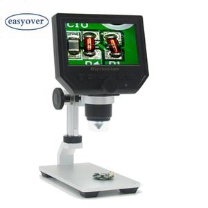 """600X Elektronik Mikroskop 3.6MP 4.3 """"LCD USB Dijital HD Video Mikroskoplar Endoskop Büyüteç Kamera LED ışıkları Al-alaşım Stent"""
