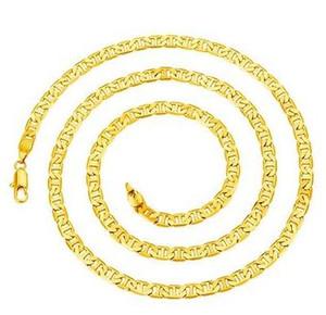 Collana in oro 18KGP con placcatura in oro placcato oro 18KGP per uomo. Collana 5mm * 60cm
