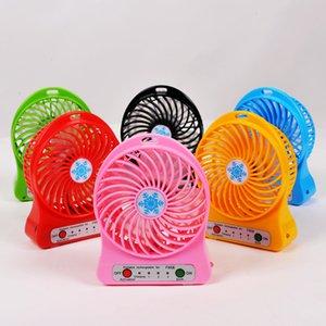 Mini ventilateur protable multifonctions USB Rechargerable ventilateur de table LED lumière 18650 Batterie réglable 3 vitesses neige cool multi couleur avec boîte