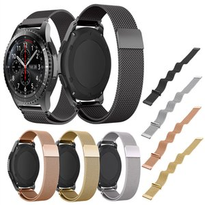 22mm Milanese Loop-Uhr-Band + Quick Release Pins für Samsung Gear S3 Classic / Frontier Magnetic Buckle Strap Armband am Handgelenk
