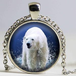 Collana con Orso Polare, Gioielli Orso Polare, Ciondolo Orso Polare Bianco, La Sua Scelta di Finitura