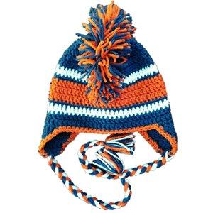 Super Cool Crochet Football Chapeau À La Main Tricot Bébé Garçon Fille Football Équipe Chapeau Infantile Photo Prop Toddler Chapeau D'hiver Baby Shower Gift