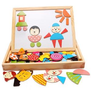 Jeu éducatif en bois Chevalet Conseil Puzzles Jeux Puzzle magnétique Sketchpad Jeu de puzzle pour enfants cadeau
