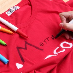 Toptan-13 adet / takım DIY Kumaş / Seramik kupa / glas / plastik öğeler ve T-shirt Astar Tekstil boya Marker toksik olmayan su geçirmez Sanat Set