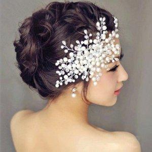 mariée demoiselle d'honneur Design de Mode Plaqué Argent Alliage Perle Diamante Pince à Cheveux Pinces À Cheveux Accessoire De Cheveux Femmes Bijoux