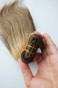 100 % 인간의 머리카락 번들 1pc / lot 비 레미 헤어 익스텐션 100g brazilian hair weave bundles 4/27 PIANO COLOR 무료 배송