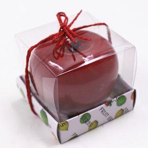 التفاح على شكل شمعة ، متعدد الوظائف ، رومانسي ، الطرف ، الديكور ، مهرجان ، جو ، عشية عيد الميلاد ، السنة الجديدة ، ديكور ، بوجي ، الشموع ، 2 5bk ، KK