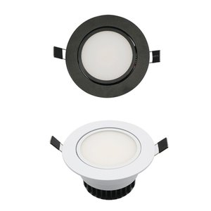 LED COB Downlight AC85-265V 9W Recessed LED Spot Light Lumination Indoor Decoration Ceiling Lamp Black Silver