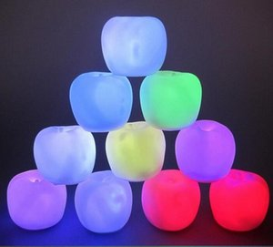free shipping Apple night light colorful flash color change Christmas night gift night light Christmas light 10pcs