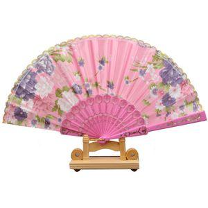 The new women's lace fan dance fan elegant lady fan plastic craft factory wholesale