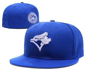 2019 New Retro Fitted Hats Berretti da baseball Cappelli con visiera piatta per pantaloni a sfera Size Blue Jays Team Chapeu Bone De Beisebol