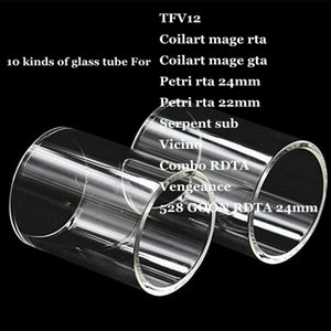 TF12 Coilart mage RTA GTA Petri 22mm 24mm Serpent sub Vicino Combo RDTA Vingança 528 GOON Substituição Tubo De Vidro De Pirex