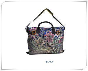 2016 nuevo bolso de la mujer bolsa de Yunnan estilo popular bordado bolsa de lona bolso Crossbody de doble propósito portátil