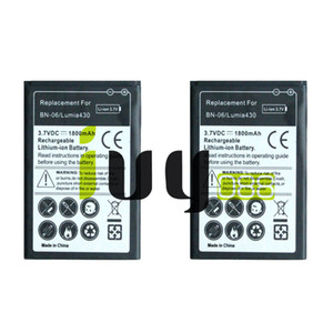 2 pçs / lote 1800 mah bn-06 bn06 bn 06 bateria de substituição para microsoft nokia lumia 430 lumia430 baterias batterij batterij