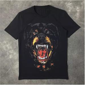 Yeni Moda Rottweiler köpek baskı Yüksek kaliteli O-Boyun Siyah tee t shirt erkekler kadınlar için pamuk ücretsiz kargo