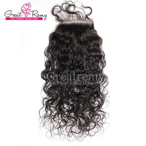 130% Дешевые Indian Virgin Hair Weave Top Lace Closure Объемная волна кружева Закрытие Кусочки 4x4 отбеленные узлы Human Lace Front Закрытие