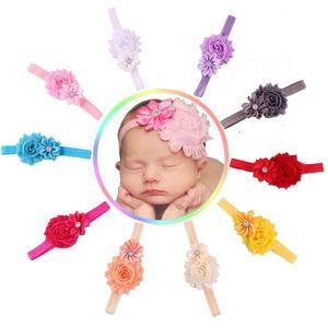Al por mayor-2016 El más nuevo Diseño 10 unids Baby Girl Flower Diadema Hairband Rhinestone Kids Head Band niños Multicolor Accressories del pelo