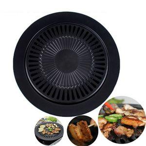 Arte ecologicamente correta Cozinhar Ferramentas Não -Stick Gas Grill Pan refinados Ferro Preto Churrasco fritar Roasting Pans externas Saucepan Panela sartenes