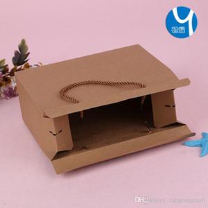 Sıcak satmak Nokta toptan el kraft kağıt hediye kutusu kuruyemiş paketleme karton yazdırılabilir logo ücretsiz DHL