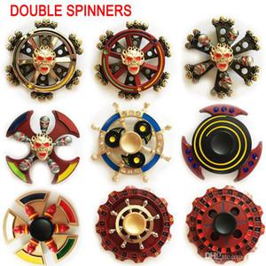 38 종류 최신 이중 베어링 Fidget Spinner EDC 삼각형 도끼 라운드 나침반 손으로 회전하는 스피너 장난감 스핀으로 된 이중 손가락 금속 장난감