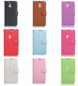 Para LG W30 K10 2017 LV5 G6 Nokia 6 Sony Xperia XA1 XZ1 Compact carteira de couro flip caso Litchi TPU Levante ID Card Bolsa Telefone capa de pele 50PC