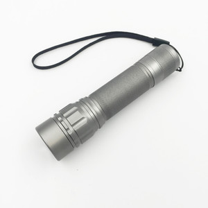 foco telescópico 2000 Lumen Zoomable XM-L Q5 Antorcha de linterna LED, Zoom Lámpara de luz Negro / Dorado / Gris Lanterna LED 3 modos de uso 18650 Penlight