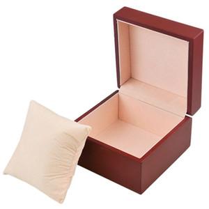 Les boîtes d'oreiller de flanelle de boîte de montre de conseil de fibre de milieu boivent des boîtes à bijoux brunes