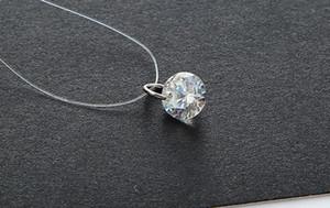 Der Film-Star mit einer transparenten Kontaktlinie und Verkauf von weiblichen Diamant Halskette Kette Schlüsselbein Zirkon Kristall Anhänger Großverkauf