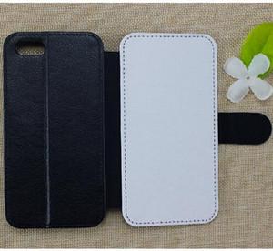 IPhone 11 için Pro XS Max XR X 6 6 S 7 8 Artı Isı transferi 2D süblimasyon deri cüzdan tpu telefon kılıfı