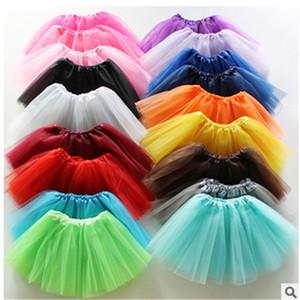 13 renkler En Kaliteli şeker renk çocuklar tutuş etek dans elbiseler yumuşak tutu elbise bale etek 3 katmanlar çocuk prenses elbise