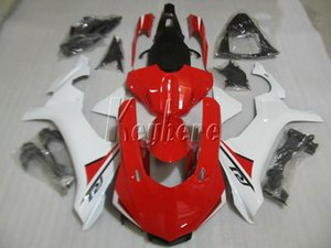 Motocicleta fairings para yamaha yzf r1 09 10 11 12 13 14 kit de carenagem de molde de injeção vermelho branco yzfr1 2009-2014 or21