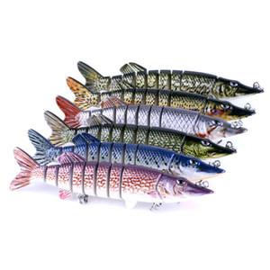 Реалистичные рыболовные приманки мульти сегмент Swimbait Crankbait жесткий Bait 12.7 см 20 г искусственные приманки рыболовные снасти 6 цветов Оптовая 2508054