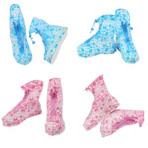 Waterproof PVC Reusable Rain Shoe Covers Anti-Slip Printed RainShoe Rain Boot Overshoes Waterproof Shoes Cover IC706