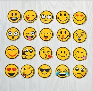 20 piezas nuevo bordado Emoji parche hierro-en parches para ropa Jeans sombrero rayas pegatinas parches para ropa apliques