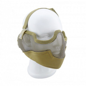 Maschera facciale tattica di alta qualità Generic Tactical Airsoft CS Gioco Maschera protettiva Mesh in metallo Maschera mezza faccia