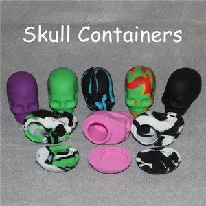 Unique Skull Screw Top NonStick Dose Slick Skull Silicone Container Slick Dosen für Silikon / Glas Bongs neuestes Silikondöschen