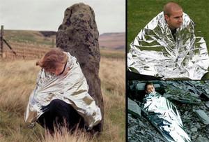 Venda quente À Prova D 'Água De Emergência Sobrevivência Resgate Blanket Foil Espaço Térmico Primeiros Socorros Sliver Resgate Cortina de Engrenagem Ao Ar Livre Multifuncional 10 PCS