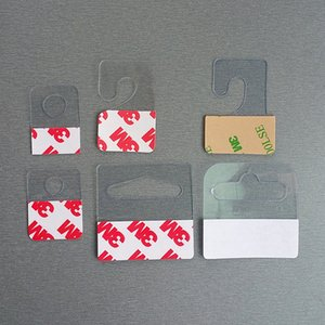 Plástico PVC PET Hang Hanging Tabs Hooks en la mercancía Paquete de la caja Perchas Peghooks Display J-hook Self Adhesive Style 400pcs