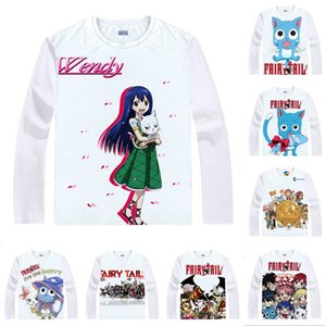 Tee shirt Animé queue de fée T-shirts multi-style chat heureux ailé Carla Sharuru Cosplay Motivs Chemises Kawaii