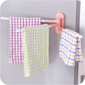 Práctico Hogar Hogar Essential Spiraling Towel Estante Suspensión Cuarto de baño Cocina Tela Rag Toallero Estante Gancho adhesivo