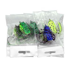 5шт Мягкая трубка приманка пластиковые рыболовные приманки лягушка приманка тройные крючки мини лягушка приманка приманки 5.5см 8 г искусственная мягкая приманка оптом