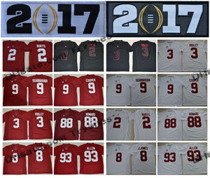 2017 Alabama Crimson Marée 2 Jalen Hurts 3 Ridley Julio Jones Jonathan Allen Amari Cooper 9 Bo Scarbrough OJ Howard College Football Jersey