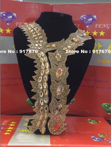 10pcs lot Fashion Rhinestone Transfer Iron On Hotfix Crystal Applique, Bling Rhinestone Motif Patch Collar Applique