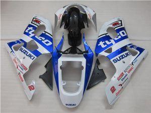 Free Gifts New ABS motor Fairing Kits 100% Fit For SUZUKI GSXR600 GSXR750 01 02 03 K1 R600 R750 2001 2002 2003 bodywork set blue white tyco