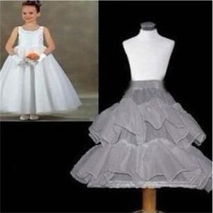 جديد الأطفال تنورات الزفاف العروس وصيفه الشرف اكسسوارات قماش قطني أبيض 2 طبقات 1 هوب زهرة فتاة اللباس طفل تحتية