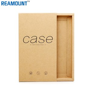 50pcs regalo della scatola di carta del cassetto di Kraft per il pacchetto della cassa del telefono cellulare Contenitore di imballaggio di Shell BOX del telefono per l'imballaggio al minuto di iPhone7 / 7p