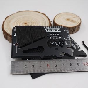 2017 Nuovo Multi 14 Funzioni SOS Mini Coltellino da tasca portatile Credit Sabre Card Strumento di sopravvivenza all'aperto Coltelli Campeggio Strumenti EDC Spedizione gratuita