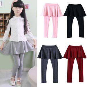 New outono e inverno crianças meninas doces cores leggings saia calças meninas do bebê calças justas de alta qulity calças dhl c1612