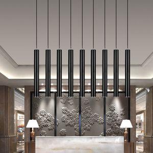 현대 파이프 펜던트 램프 실린더 조명 스팟 라이트 스트레이트 Droplight 통 거실 숍 장식 부엌 식사